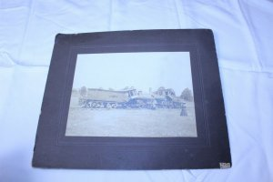 1905 July 4th Train Wreck Black & White Photo with Newspaper Clipping