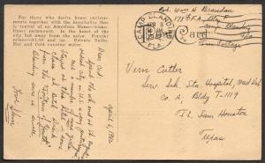 Free Frank Soldier Correspondence from Camp Blanding, Fla.