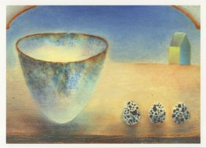 Fiona Bradford Allmost To The Day Mystic Bowl Stones Painting Postcard