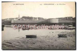 Old Postcard Brittany Concarneau Ville Close