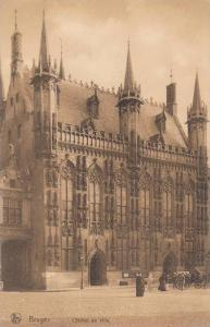 Street View, L'Hotel de Ville, Bruges, West Flanders, Belgium 1900-10s