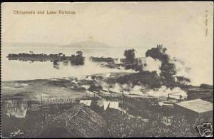 new zealand, ROTORUA, Ohinemutu and Lake (1910s)