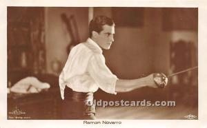 Old Vintage Fencing Postcard Post Card Ramon Novarro Real Photo Unused