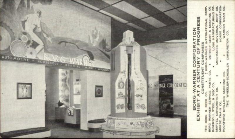 1933 Chicago World S Fair Borg Warner Corp Industry Tools Etc Postcard Hippostcard
