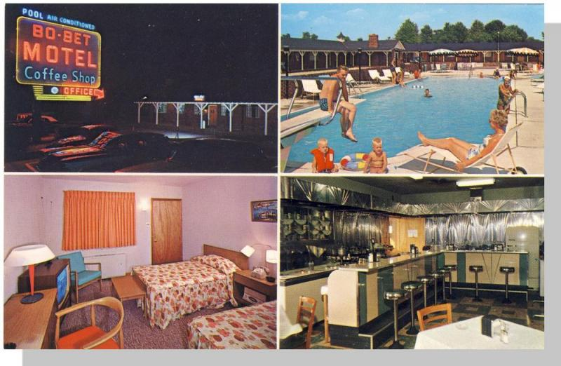 Ephraim, New Jersey/NJ Postcard, Bo-Bet Motel & Coffee Shop