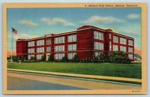 Postcard DE Seaford Delaware Seaford High School c1950s X5