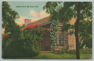 Bardstown Kentucky~Cabin Over 100 Years Old In Woods~Vintage Postcard