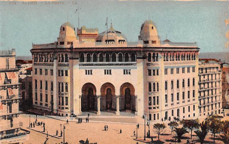 Carte Or Algerie Poste.Alger Algeria Alger Algerie La Poste Alger La Poste Hippostcard