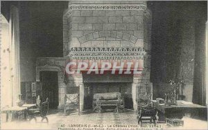 Old Postcard Langeais (I and L) Le Chateau (My His fifteenth S) Fireplace Gra...