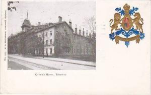 Coat of Arms, Queen's Hotel, Toronto, Canada, PU-1906