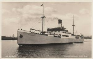 RP: Ocean Liner S/S GONDUL , Sweden , 20-40s