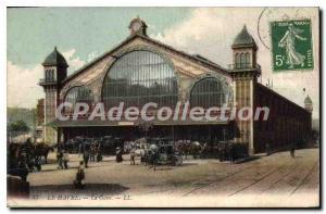 Old Postcard Le Havre La Gare