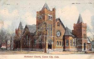 Canon City Colorado Methodist Church Antique Postcard J63248