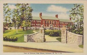West Virginia Fairmont Front Of Fairmont High School