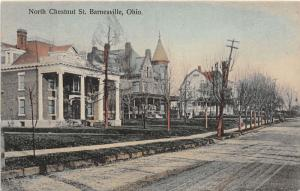 E84/ Barnesville Ohio Postcard c1910 North Chestnut Street Homes Mansions 7