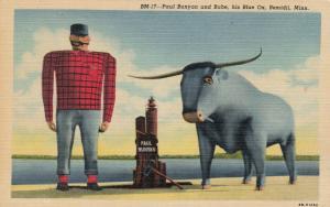 BEMIDJI, Minnesota, 1930-40s; Paul Bunyon & Blue, His Blue Ox