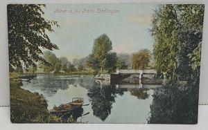 River in the Park Darlington UK Vintage Postcard