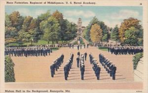 Maryland Annapolis Naval Academy Noon Formation Regiment Of Midshipmen U S Na...