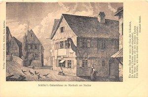 Schiller's Geburtshausl United Kingdom, Great Britain, England Unused