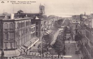 TUNIS - Perspective de l,avenue de France et Jules Ferry , 00-10s