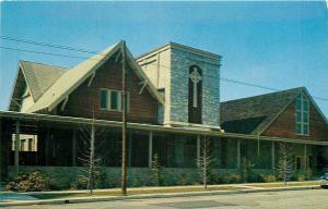 Azusa California~First Presbyterian Church~1950s Postcard