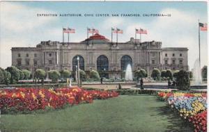 California San Francisco Exposition Auditorium Civic Center 1954