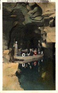 New York Howe Caverns Boating On The Lagoon Of Venus 1931
