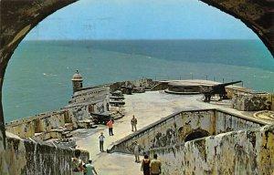 Puerto Rico Post card Old Vintage Antique Postcard Fort El Morro 1967