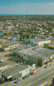 Canada Aerial View Downtown Yellowknife Northwest Territories
