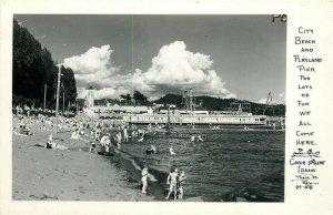 ID, Coeur D'Alene, Idaho, Beach and Playland Pier, RPPC