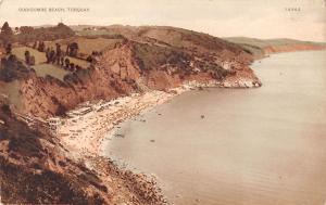 uk25328 oddicombe beach torquay uk