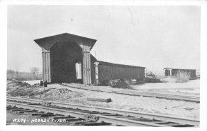 F77/ Hookset New Hampshire RPPC Postcard c1950s Railroad Depot 20