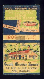 South Meriden, Conecticut/CT/Conn Matchcover, South Meriden House Restaurant