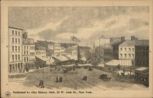 New York City Chatham Square in the 1800s - c1900 City History Club Postcard