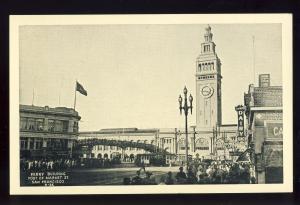 San Francisco, California/CA Postcard, Ferry Building, Market Street