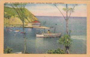 California Catalina Island Avalon Glimpse Of Avalon Bay