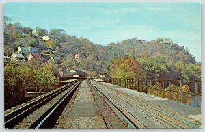 Harper's Ferry West Virginia~Top & Center~Baltimore & Ohio Railroad Bridge~1960s