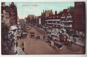 P243 JL valentines postcard horse wagons holborn london
