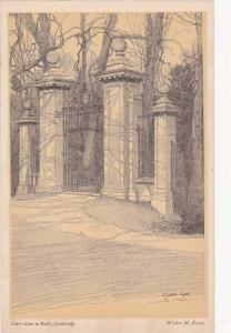 AS: Walter M. Keesey, Clare Gate To Backs, Cambridge, England, UK, 1910-1920s
