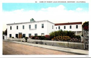 California Monterey Home Of Robert Louis Stevenson Curteich