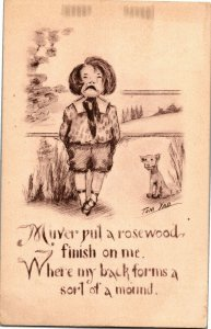Boy Crying from Spanking Tom Yad-Cobb Shinn c1911 Vintage Postcard A30