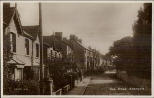 Abergele Wales Sea Road Homes Real Photo Postcard