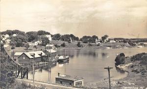 Thomaston ME Harbor View Boats Houses Joel M. Miller RPPC Postcard