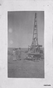 C-1910 Mobile Drilling Derrick Rig Oil Water RPPC real Photo postcard 4557