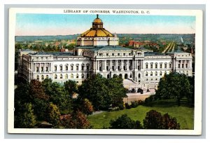 Vintage 1920's Postcard Panoramic View of the Library of Congress Washington DC