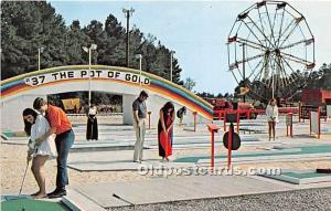 Old Vintage Miniature Golf Postcard Post Card Amigoland Fun Park, Carpet Golf...