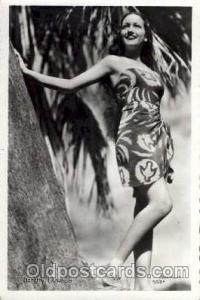 Dorothy Lamour Actress / Actor Postcard Post Card Old Vintage Antique Actor A...