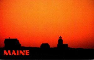 Massachusetts Cape Porpoise Goat Island Lighthouse At Sunrise