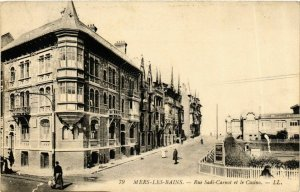 CPA MERS-les-BAINS Rue Sadi-Carnot et le Casino (868976)