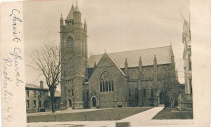 Christ Church - Rochester NY, New York - Picture glued on Postcard - UDB